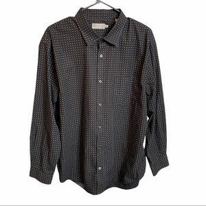 VINCE Black White Button Up Shirt size XL